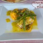 Lomos de Pescadilla con salsa de Azafrán
