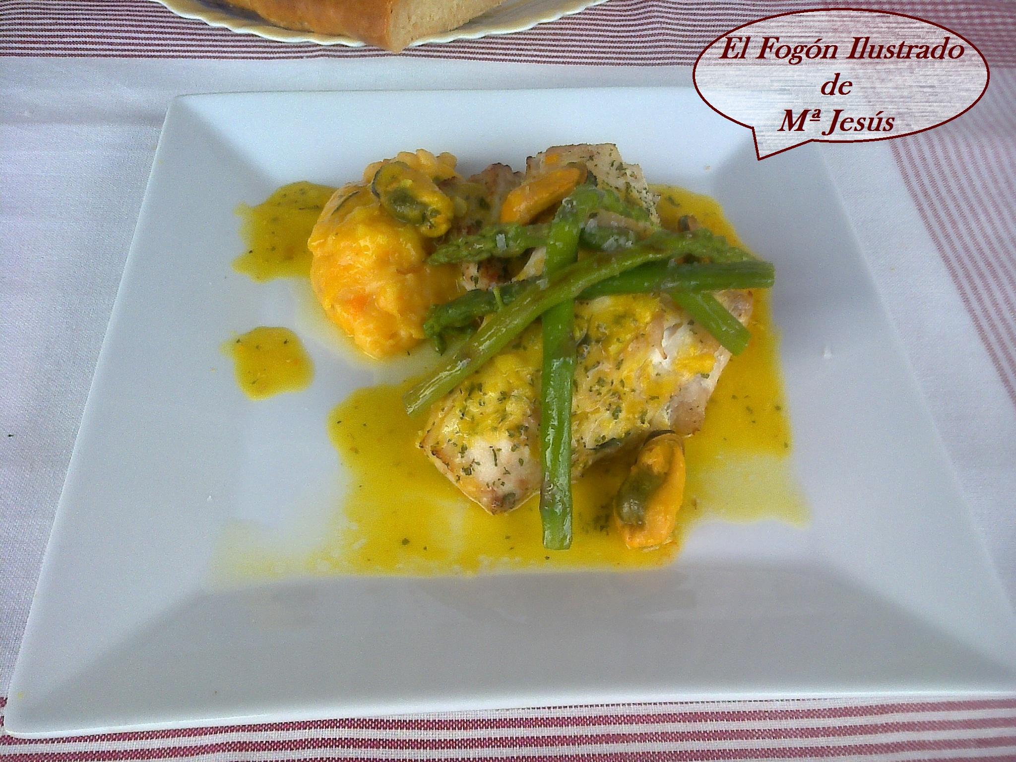 Pescadilla con salsa de Azafrán