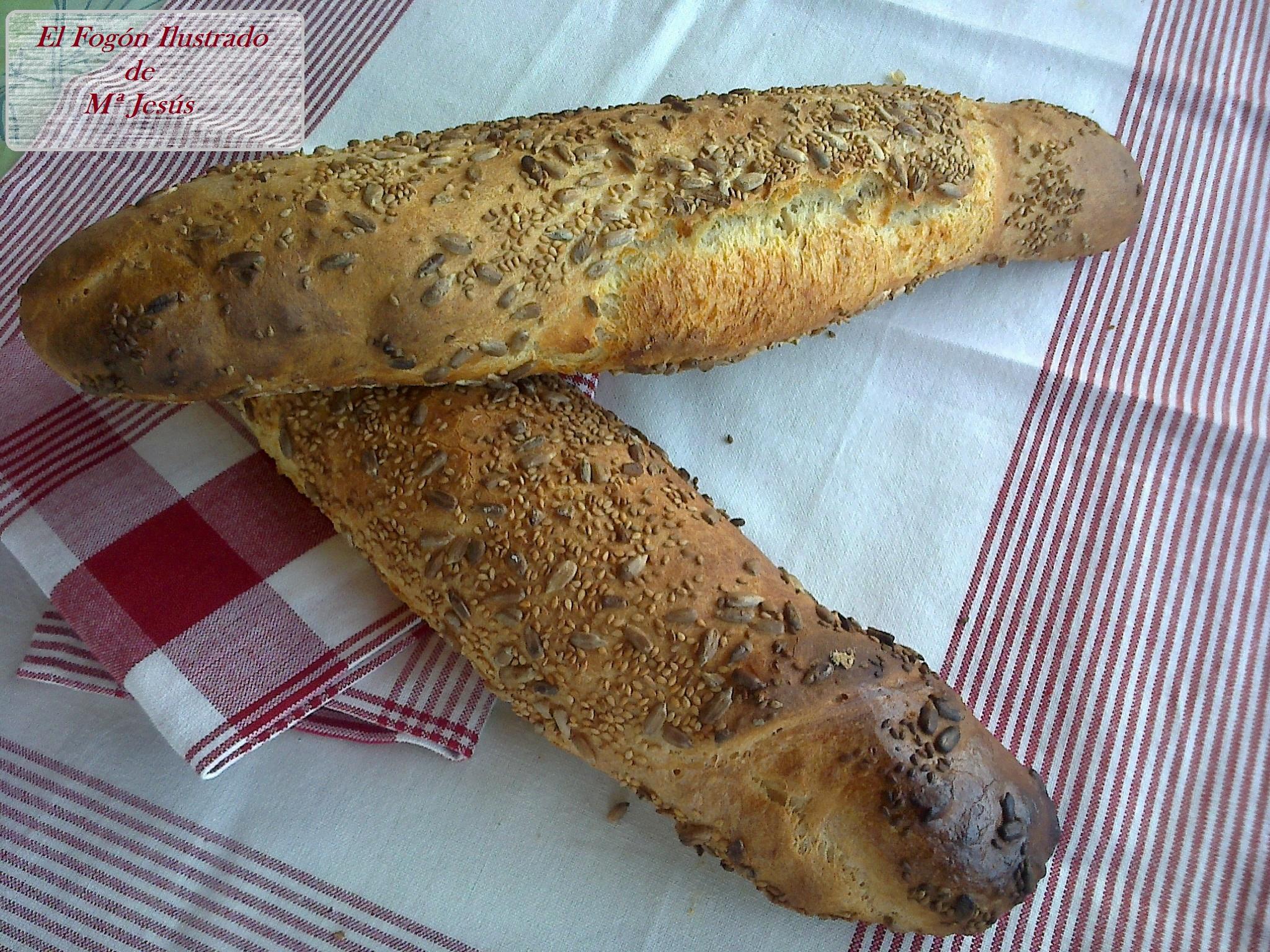 Pan de semillas sin amasado