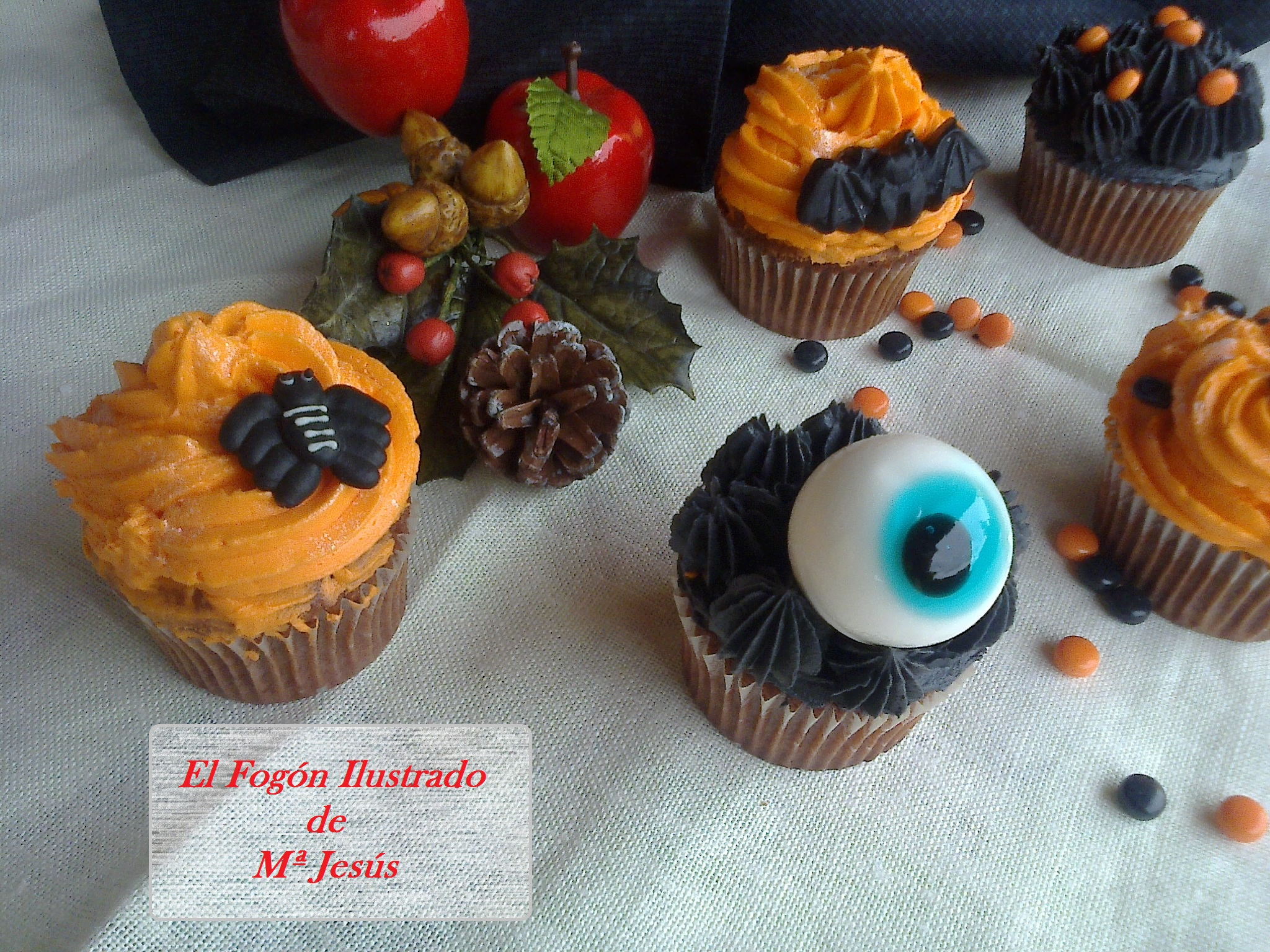 Cupcakes de Chocolate para Halloween