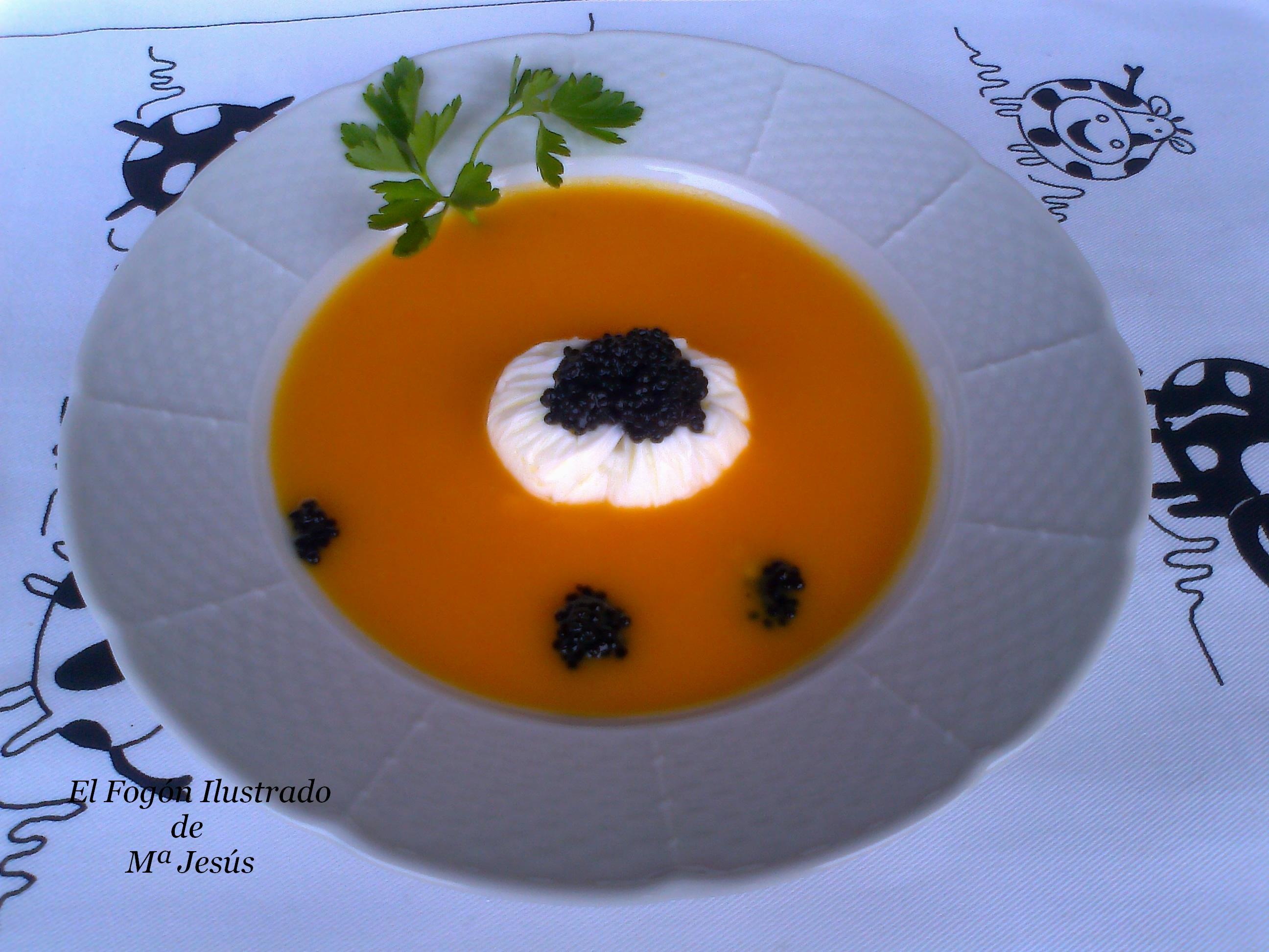 Crema de Calabaza con Huevo Mollet