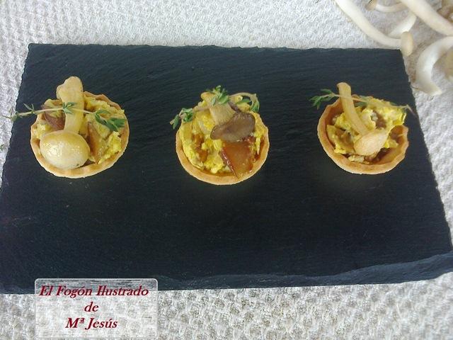 Tostada de Setas al Curry (2)