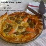 Quiche de alcachofas, salmon y espárragos de Navarra
