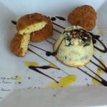 Nuggets de Pollo con queso y flan de verdura
