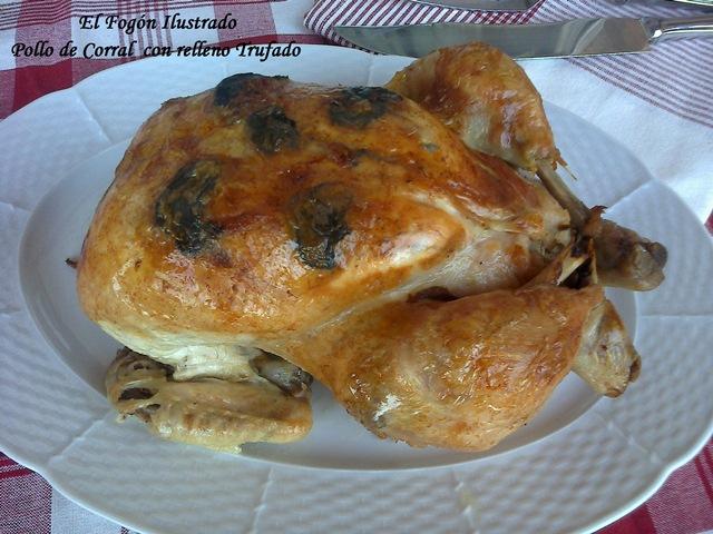 Pollo de Corral con relleno Trufado