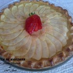 Tarta de manzana de masa quebrada y crema pastelera