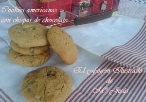 Cookies americanas con Chispas de chocolate 015