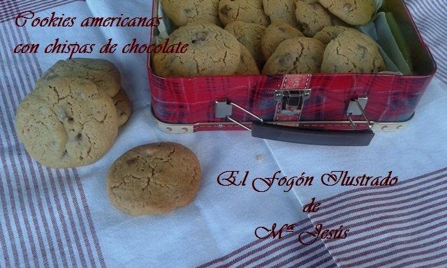 Cookies americanas con chispas de chocolate