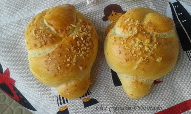 Nudos de Pan de ajo y queso Parmigiano (4)