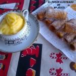 Cañas rellenas de crema pastelera