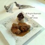Pollo a la mostaza con Boletus Edulis