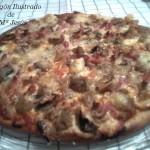 Pizza de champiñon y coca de sardinas