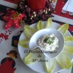 Hojas de endivias con salsa tártara