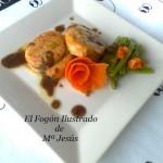 Tournedos de salmón con hierbas arómaticas y salsa de vino