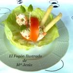 Cestas de tomate rellenas de ensalada