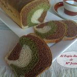Pan tricolor con Cacao y Té Matcha
